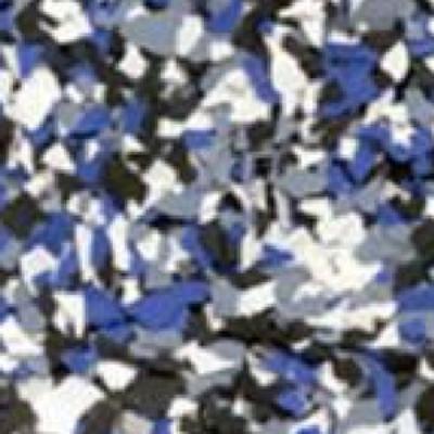 Electric Blue - Color Flake Concrete Coatings Utah