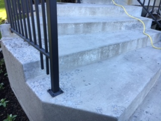before coating stairs