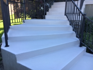after coating stairs