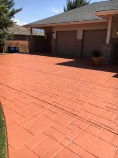 after concrete coating outdoor