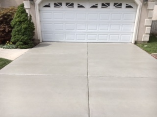 after concrete coating driveway