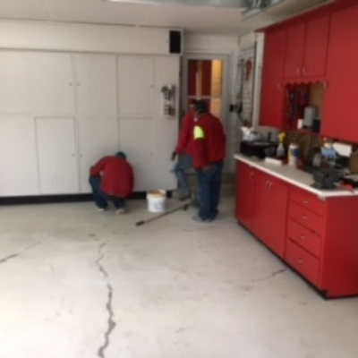 before concrete coating garage utah