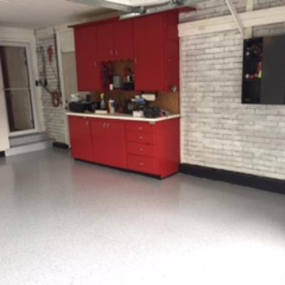 after concrete coating garage utah