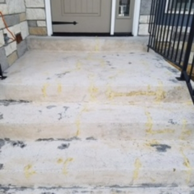 stair concrete coating before