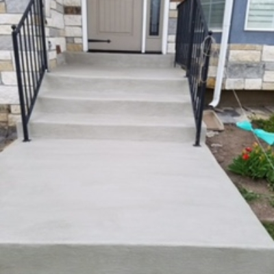 stair concrete coating after