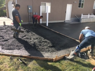 pouring concrete for utah project