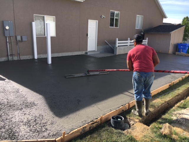 concrete pouring for utah project