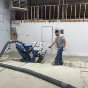 shot blasting concrete project in utah