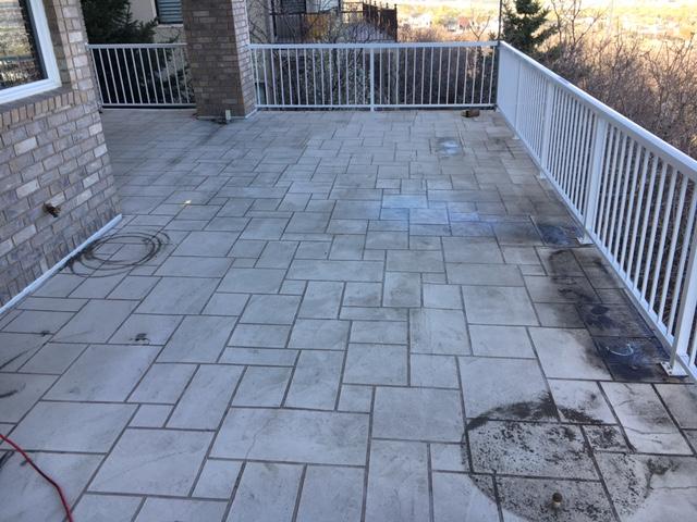patio before waterproofing