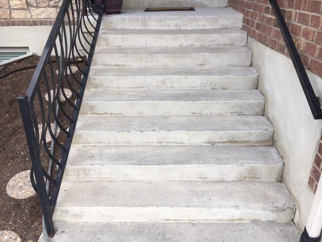 stairs before resurfacing