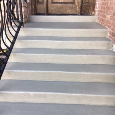 stairs after concrete resurfacing