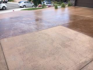 driveway with concrete sealing