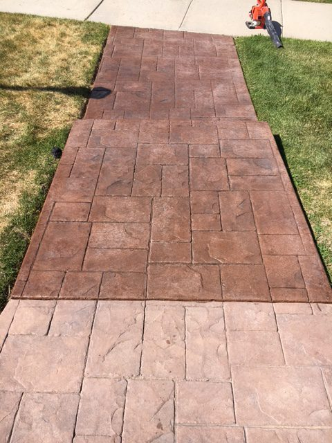 walkway with sealing