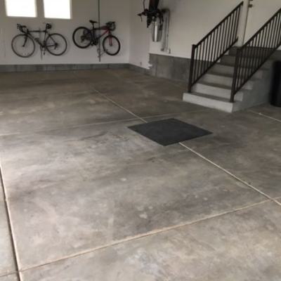 Before Garage Epoxy Coating