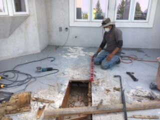 before waterproof deck coatings