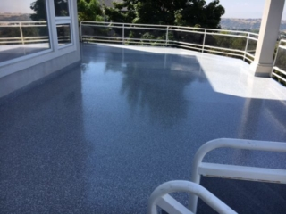 patio after coating